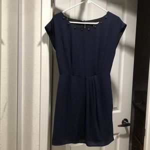 Navy forever 21 dress with spike collar detail!